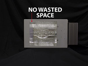 No wasted space