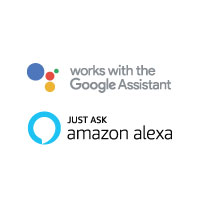 Works with Goole and Amazon Assistant