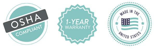 OSHA / Warranty Icons