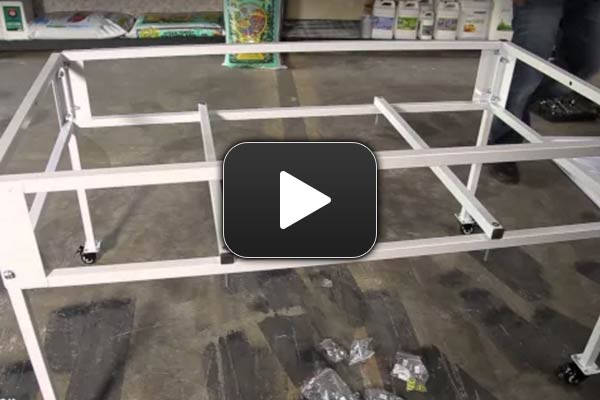 How To Assemble HydroFarm's 2x4 Tray Stand