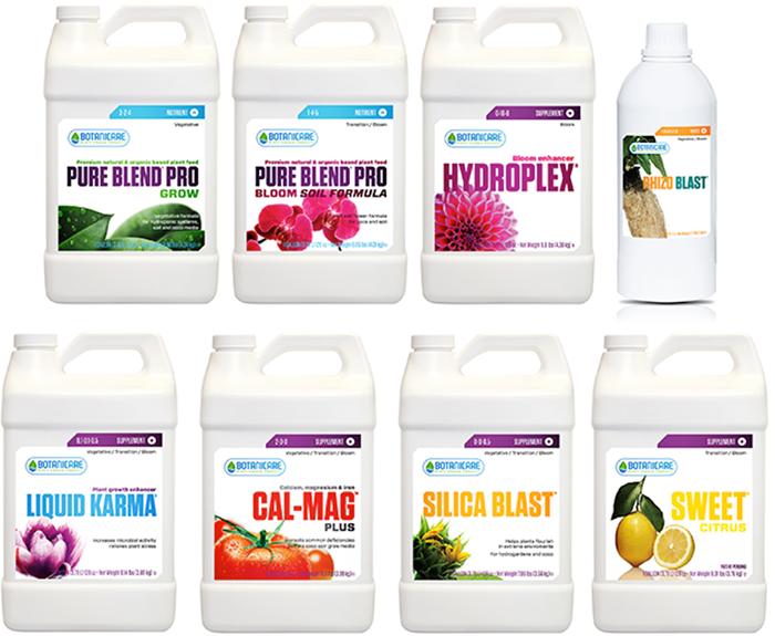 Botanicare Pure Blend Pro Soil Nutrient Package