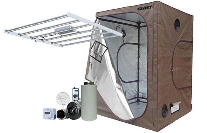 Covert 5' x 5' 630 Watt PRO LED Grow Tent Kit