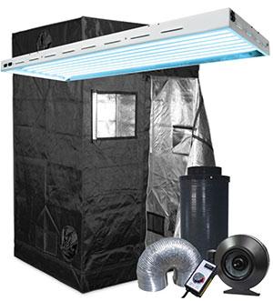 Gorilla Grow Tent 4' x 4' Fluorescent T5 Grow Tent Kit