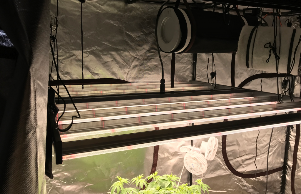 Grow tent LED hanging