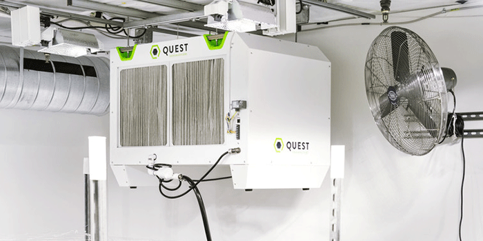 the best dehumidifier for most commercial growers is the Quest OVerhead series.