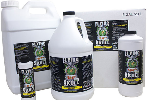 Best Pesticide For Fungus Gnats & Thrips: Flying Skulls Nuke Em Concentrate