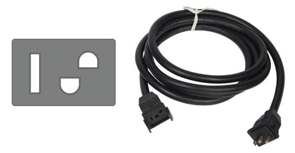 Standard Reflector Cord Plug and Cord